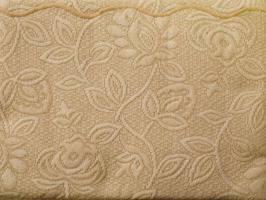 FLOWER Narzuta na fotel Greno beżowy