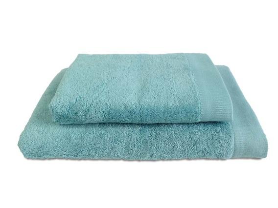 Bamboo Style Morski Niebieski Ręcznik Bambusowy Andropol
