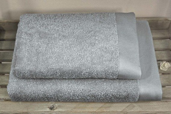 Bamboo Style Szary Jasny Komplet Ręczników Bambusowych Andropol