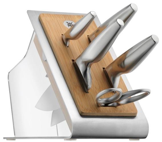 Blok 4 noży + nożyczki Chef`s Edition WMF