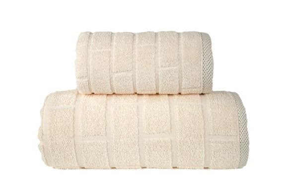 Brick Kremowy Ręcznik bawełniany GRENO