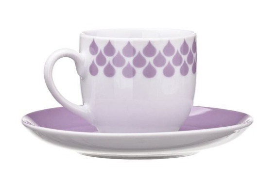 Filiżanka do espresso DROPS United Colors of Benetton, 4 kolory fioletowy
