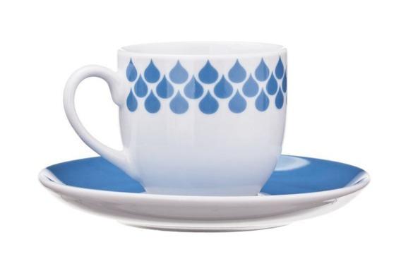 Filiżanka do espresso DROPS United Colors of Benetton, 4 kolory niebieski