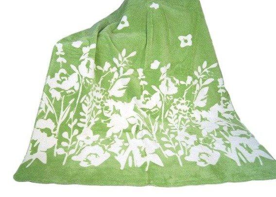 Flo/zielony koc Glamour GRENO