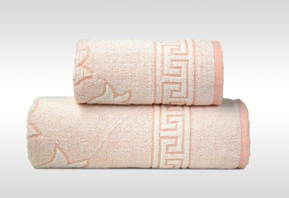 Flora 2 Brzoskwiniowy ręcznik bawełnianany GRENO