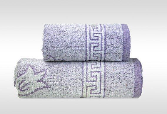 Flora 2 Liliowy ręcznik bawełniany GRENO