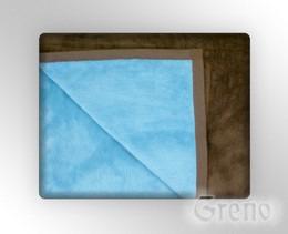 GLAMOUR Koc, 7 kolorów Greno błękitno-brązowy