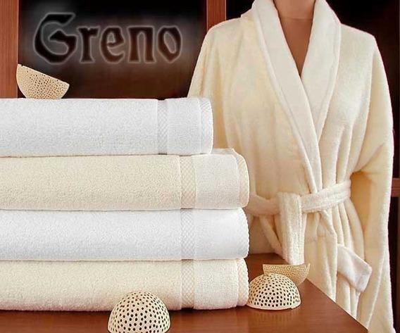 Komplet Wellness 2 ręczniki (50x90 i 70x140) + szlafrok L  GRENO kremowy