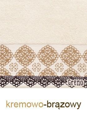 Ręcznik Bawełniany Style GRENO kremowo-brązowy