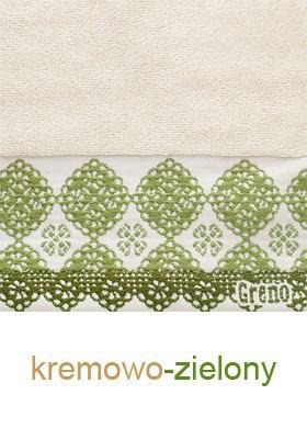 Ręcznik Bawełniany Style GRENO kremowo-zielony
