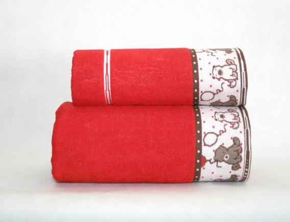 Ręcznik SWEET BEAR Greno czerwony