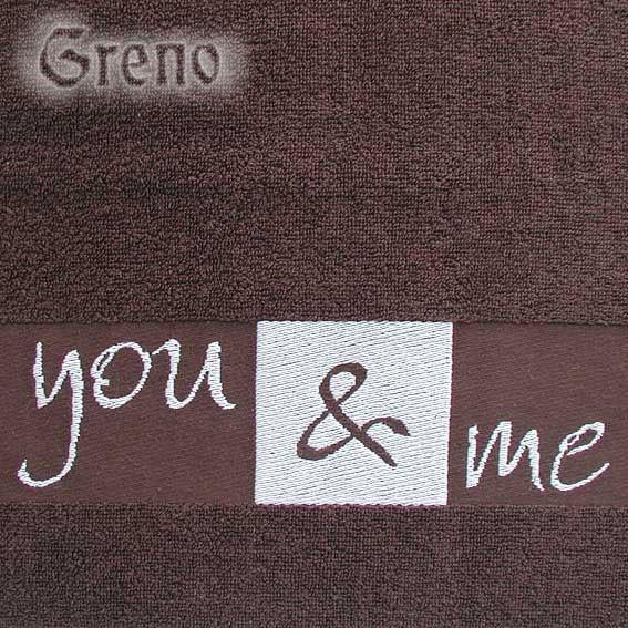 Ręcznik YOU & ME Greno brązowy