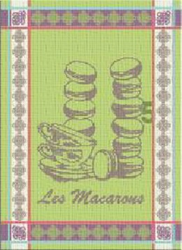 Ściereczka kuchenna MACARONS Greno, 2 kolory zielony