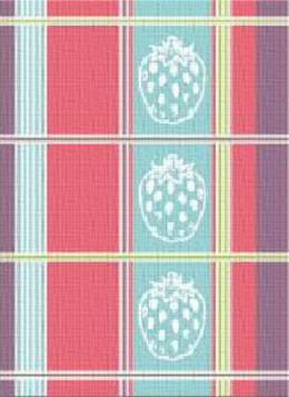 Ściereczka kuchenna TRUSKAWKI Greno, 2 kolory niebieski