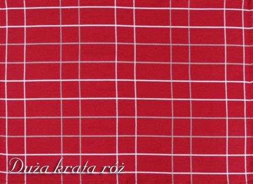 Ściereczki kuchenne, 2 kolory DUŻA KRATA Greno czerwony