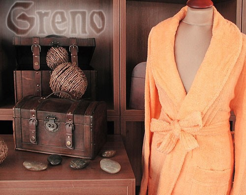 Szlafrok Palazzio  GRENO pomarańczowy