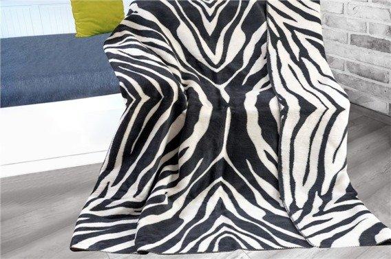 Zebra Koc  Glamour Greno